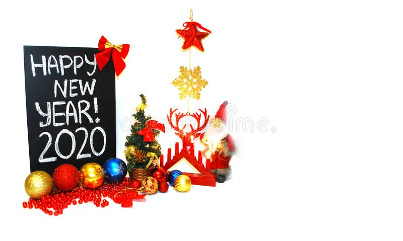 Happy new year 2020. New year sign on white background. Happy new year 2020. New year sign  on white background royalty free stock image